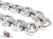 Ladies Silver Chain 18 Inches 17mm 82.3 Grams シルバーネックレス