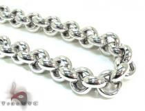 Unisex Silver Chain 18 Inches 11mm 68.9 Grams Silver