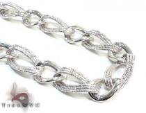 Ladies Silver Chain 18 Inches 13mm 27.7 Grams Silver