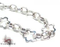Ladies Silver Chain 18 Inches 14mm 31.4 Grams Sterling Silver Necklaces