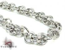 Ladies Silver Chain 18 Inches 14mm 47 Grams Sterling Silver Necklaces
