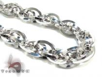 Ladies Silver Chain 18 Inches 11mm 37.8 Grams Silver