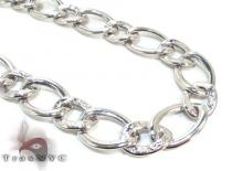 Ladies Silver Chain 18 Inches 16mm 33.3 Grams Sterling Silver Necklaces