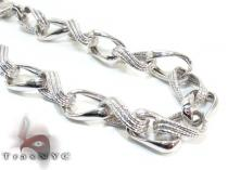 Ladies Silver Chain 18 Inches 11mm 29.8 Grams Silver