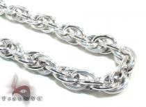 Unisex Silver Chain 20 Inches 9mm 49.5 Grams シルバーチェーン