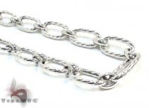 Ladies Silver Chain 18 Inches 9mm 19.6 Grams シルバーネックレス
