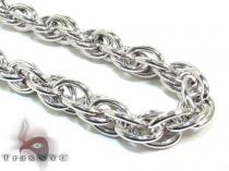 Ladies Silver Chain 18 Inches 11mm 48.4 Grams シルバーネックレス