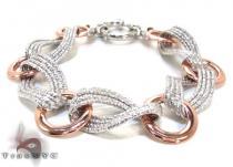 Ladies Silver Bracelet 21872 ステアリングシルバーブレスレット