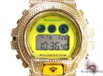 Aqua Master Illuminator Diamond Shock Watch Yellow Aqua Master