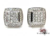 Invisible Prong Diamond Earrings 21995 Mens Diamond Earrings