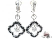 Ladies Prong Black Diamond Earrings 22157 Stone