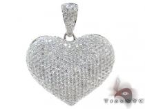 Ladies Bubble Heart Diamond Pendant 22281 Diamond Pendants