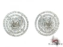Ladies Prong Diamond Semi Mount Earrings 22318 Diamond Earrings For Women