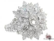 18K White Gold Prong Pave Diamond Semi Mount Ring 22327 レディース ダイヤモンド リング