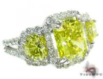 Ladies Canary Bridge Ring カラー ダイヤモンド リング