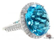 Blue Color Gemstone Diamond Ring Gemstone Diamond Rings