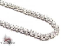 Mini Polar Iced Diamond Chain 30 Inches 3mm Diamond Chains