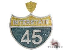 Super Interstate Pendant Diamond Pendants