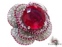 Pink Color Ruby Rose Diamond Ring Gemstone Diamond Rings