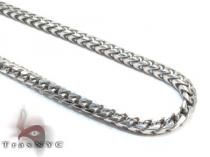 Franco Silver Chain 36 Inches 3mm 60.8 Grams Silver Chains