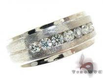 White Gold Channel Diamond Ring Stone