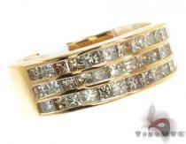 3 Row Princess Cut Diamond Ring 記念日用 ダイヤモンド リング