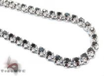 White Gold Black Diamond Chain 20 Inches 5mm 38.7 Grams ダイヤモンド チェーン
