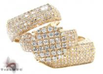 Yellow Gold Round Cut Prong Diamond Wedding Ring Set Diamond Wedding Sets