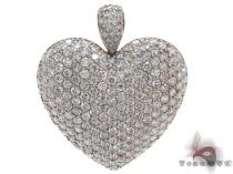 Ladies Yellow Gold Bubble Heart Pendant 20736 Diamond Heart Pendants