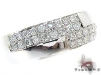 White Gold Round Cut Prong Diamond Ring メンズ ダイヤモンド リング