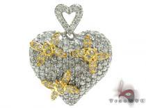 Butterfly Heart Charm 3 ダイヤモンド ハートペンダント