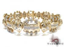 Yellow Gold Round Princess Cut Bezel Prong Invisible Diamond Bracelet Mens Diamond Bracelets