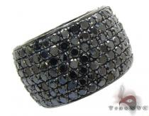 7 Row Fully Black Diamond Ring