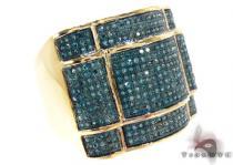 Yellow Gold Round Cut Micro Pave Diamond Ring Mens Diamond Rings