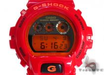 Casio G-Shock Red Plastic Resin Orange Digital Watch DW6900CB-4 G-Shock Watches
