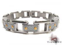 White Stainless Steel Bracelet Men Annual Blowout