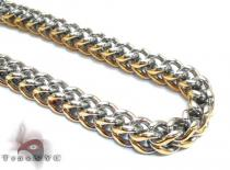 Two Tone Stainless Steel Chain 24 Inches 6mm 87 Grams Stainless Steel