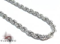 White Stainless Steel Chain 30 Inches 4mm 27.7 Grams Stainless Steel