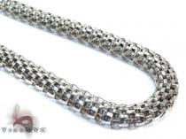 White Stainless Steel Chain 24 Inches 7mm 23.3 Grams Stainless Steel Chains