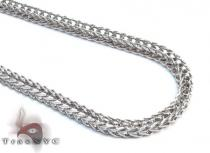White Stainless Steel Chain 24 Inches 3mm 11.9 Grams Stainless Steel