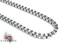 White Stainless Steel Chain 30 Inches 4mm 27.1 Grams Stainless Steel