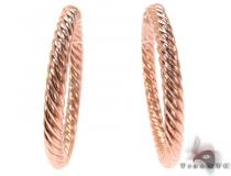 Rose 14K Gold Hoop Earrings レディース ゴールドイヤリング