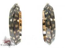 Two Tone 14K Gold Hoop Earrings レディース ゴールドイヤリング