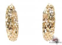 Yellow 14K Gold Hoop Earrings レディース ゴールドイヤリング