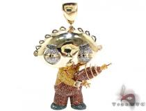 Custom Jewelry Stewie Diamond Pendant Metal