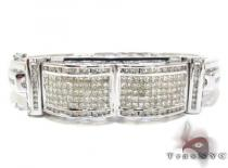 White Gold Round Princess Cut Invisible Channel Diamond Bracelet ダイヤモンド バングル ブレスレット