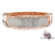 Rose Gold Princess Cut Invisible Diamond Bracelet ダイヤモンド バングル ブレスレット
