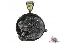 Black Rhodium Silver Cougar Pendant シルバーペンダント