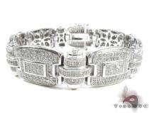 White Rhodium Silver Bracelet Sterling Silver Bracelets