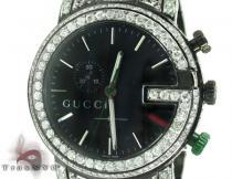 Gucci Chrono Black & White Full Diamond Watch Gucci グッチ